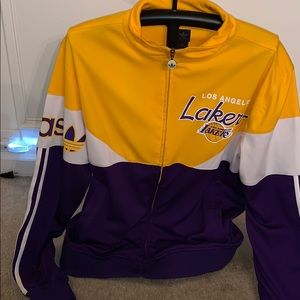Adidas Los Angeles Lakers track jacket size-L